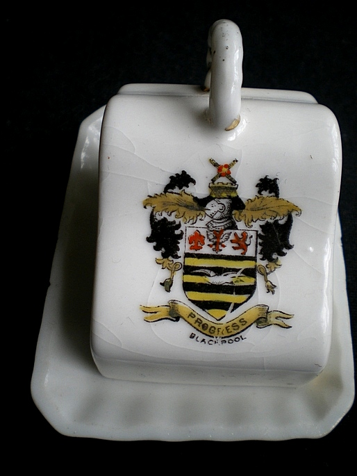 Blackpool Cheesedish Crested Ware